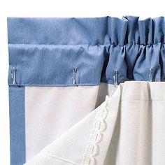 Sewing Curtains Quick and easy. add hooks onto the back of summer curtains and hang an additional layer of fabric. Curtains And Draperies, No Sew Curtains, How To Make Curtains, Rod Pocket Curtains, Blackout Curtains, Panel Curtains, Drapery, Thermal Curtains, Valances