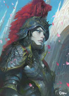 Knight(骑士), Wei Feng on ArtStation at https://www.artstation.com/artwork/zx5aQ