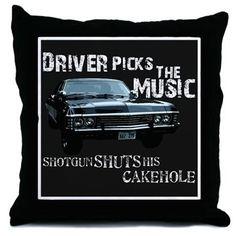 Supernatural Throw Pillow on CafePress.com