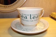 Oneida Divination Tea Reading Cup and Saucer Fortune Telling Gypsy Cup