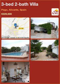 3-bed 2-bath Villa in Pego, Alicante, Spain ►€229,000 #PropertyForSaleInSpain