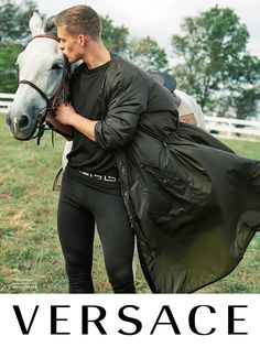 Take a first look at Versace's Spring/Summer 2017 campaign, featuring actor Mitchell Slaggert captured by Bruce Weber in the Kentucky countryside and art-directed by Donatella Versace.