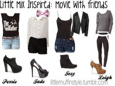 Little mix clothes friends at the movies Little Mix Style, Costumes, Hair Styles, Womens Fashion, How To Make, Outfit Ideas, Outfits, Inspiration, Clothes