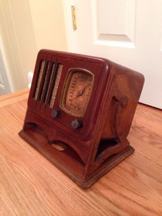 RARE Vtg 1937 Emerson 039 Slant Front 039 Ingraham Style Tube Radio Model 148   eBay