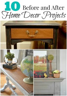10 Before and After Home Decor Projects #homedecor #diy #athomewiththebarkers