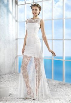 Korte trouwjurk bohemian