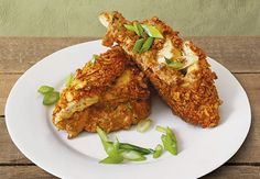 Tortilla-crusted chicken breast, stuffed with chorizo sausage, cream cheese and jalapeños