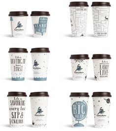 (Minneapolis) Colle + McVoy aided with the modernization of Caribou Coffee. Part of that modernization included revamping the cups to include inspirational statements #M2350