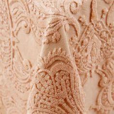 Liza | Color: Blush - La Tavola Fine Linen much paler if you put ivory or pale blush underneath