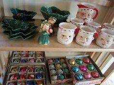 Christmas ornaments, Christmas tree trays, and winking Santa egg nog mugs http://estatesales.org/hamburg-ny-estate-sales/holidays-in-hamburg-estate-729389/gallery?p=5&utm_content=buffer09178&utm_medium=social&utm_source=pinterest.com&utm_campaign=buffer