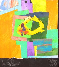 82 of 365 in 2015. 6x6 inch image on 6x7 inch Masonite Board. Mixed Media Collage