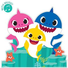 Check out Baby Shark Family Frenzy Standup from Birthday Express Adult Party Decorations, Kids Party Themes, Dinosaur Birthday Party, Boy Birthday Parties, Shark Family, Shark Swimming, Shark Party, Baby Shark, Prints