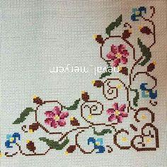 Cross Stitch Pillow, Cross Stitch Bird, Cross Stitch Borders, Cross Stitch Flowers, Cross Stitch Designs, Cross Stitching, Cross Stitch Embroidery, Cross Stitch Patterns, Bargello