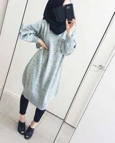 Fashion hijab jeans 66 Ideas for 2019 Abaya Fashion, Muslim Fashion, Modest Fashion, Trendy Fashion, Style Fashion, Hijab Dress, Hijab Outfit, Mode Outfits, Fashion Outfits