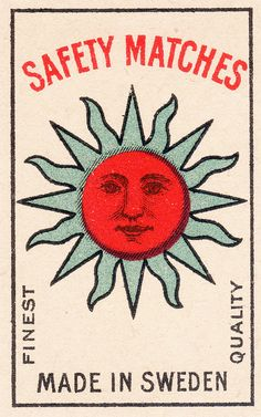 swedish matchbox label