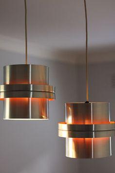 Danish modern mid century retro vintage pendant lamp light Fog Morup Poulsen era