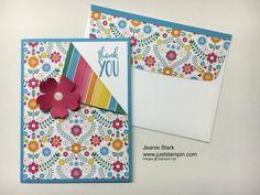 One Sheet Wonder using Stampin' Up! Festive Birthday Designer Series Paper.  www.juststampin.com