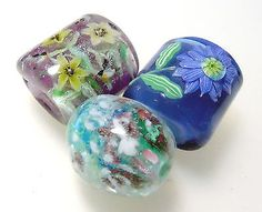Wholesale: Various Flowers & Animals -Satake lampwork glass flower beads set sra