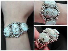 Genuine Sterling Silver Native American Navajo Dry Turquoise Creek Cuff Bracelet $399.99