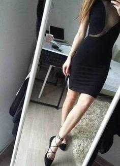 Kup mój przedmiot na #vintedpl http://www.vinted.pl/damska-odziez/sukienki-wieczorowe/17475960-czarna-sukienka-z-golfem-na-szyje-przeswitujaca-seksowna-rozm-s