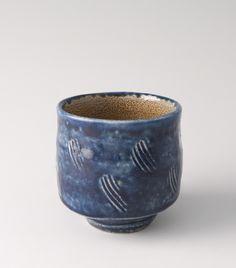 SHINSAKU HAMADA Yunomi, Salt glaze, Stoneware