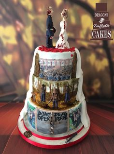 The walking dead wedding cake  - Cake by Dragons and Daffodils Cakes