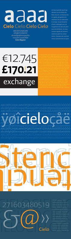 Cielo Font Family - in Opentype. Sans Serif Fonts. $125.00