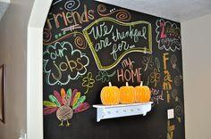 DCWV Diary: Chalkboard Wall: Thanksgiving