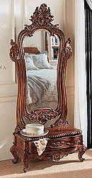 """Thornwood Manor"" Victorian dressing mirror from Design Toscano. Victorian Interiors, Victorian Furniture, Victorian Decor, Victorian Homes, Antique Furniture, Furniture Decor, Living Room Furniture, Furniture Design, Rustic Furniture"