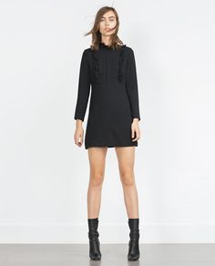 Image 1 of DRESS WITH RUFFLE SLEEVES AND POCKETS from Zara