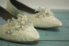 Downton Abbey Wedding Shoes Lace by Parisxox on Etsy, $210.00