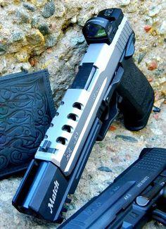 Custom HK USP Match .40- Lara Croft's weapons on steroids.