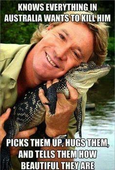Butt butthole crocodile hole hunter irwin park south steve thumb