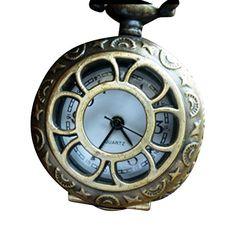 Steampunk pocket watch Victorian locket pendant charm ALICE in Wonderland–Antique style