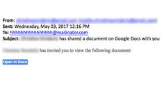 Be wary of any Google Doc invitations you receive, they may be part of a new widespread phishing scam.