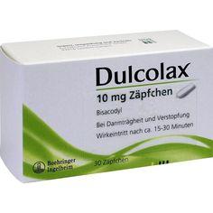 Dulcolax Abführzäpfchen bei Verstopfung mit Bisacodyl:   Packungsinhalt: 30 St Suppositorien PZN: 06439205 Hersteller: EurimPharm…