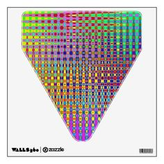 Psychedelia Caution Sign Wall Decal