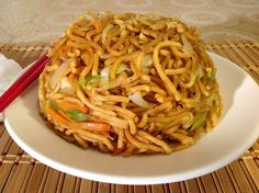 How To Make Vegetable Lo Mein-Stir Fried Noodles Vegetables-Vegetarian Recipes-Vegan Recipes