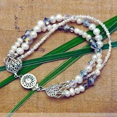 Pearl and Crystal Convertible Necklace to Bracelet | AllFreeJewelryMaking.com