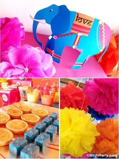 A Colorful Bollywood Bling Party by Birds Party