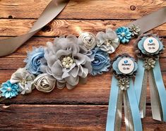 Baby Blue, Silver and Gray Boy Maternity Sash Baby Blue Pregnancy Sash Belly Belt . - Baby Blue, Silver and Gray Boy Maternity Sash Baby Blue Pregnancy Sash Belly Belt Photo Prop Gift, - Baby Shower Mum, Baby Shower Flowers, Boy Baby Shower Themes, Baby Shower Balloons, Baby Shower Gender Reveal, Baby Shower Corsages, Maternity Sash, Foto Baby, Elephant Baby Showers