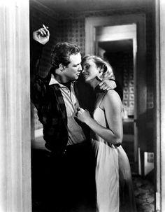 On the Waterfront, directed by Elia Kazan, 1954 starring Marlon Brando, Eva Marie Saint, Lee J. Cobb, Karl Malden and Rod Steiger.