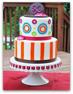 Fun colorful birthday cake