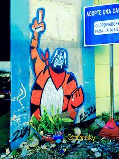 16 de enero de 2015 - Graffitti en la Ave. Manuel Fernández Juncos con el elevado de la salida al Expreso Ramón Baldorioty de Castro