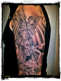 Over up idea   Saint Michael Archangel Tattoo