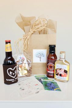 Southwestern-theme welcome bag | photo by Perez Photography Quirky Wedding, Unique Wedding Gifts, Unique Weddings, Wedding Ideas, Wedding Details, Wedding Welcome Baskets, Destination Wedding Welcome Bag, Destination Weddings, Wedding Koozies
