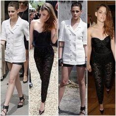 Kristen wearing Chanel & Zuhair Murad for Paris Fashion Week :)