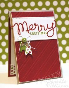 Merry Christmas card - by Teneale Williams. {Stamp Set: A Banner Christmas by Stampin' Up! Homemade Christmas Cards, Merry Christmas Card, Noel Christmas, Xmas Cards, Handmade Christmas, Homemade Cards, Holiday Cards, Simple Christmas, Christmas Ideas