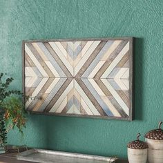 Chevron - Picture Frame Graphic Art on Wood