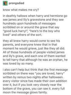 The notes were on the sign in front of the house, not the actual graves. But I l… The notes were on the sign in front of the house, not the actual graves. But I love the addition about Moony Harry Potter Marauders, Harry Potter Quotes, Harry Potter Books, Harry Potter Love, Harry Potter Fandom, Harry Potter Universal, Harry Potter World, Slytherin, Hogwarts